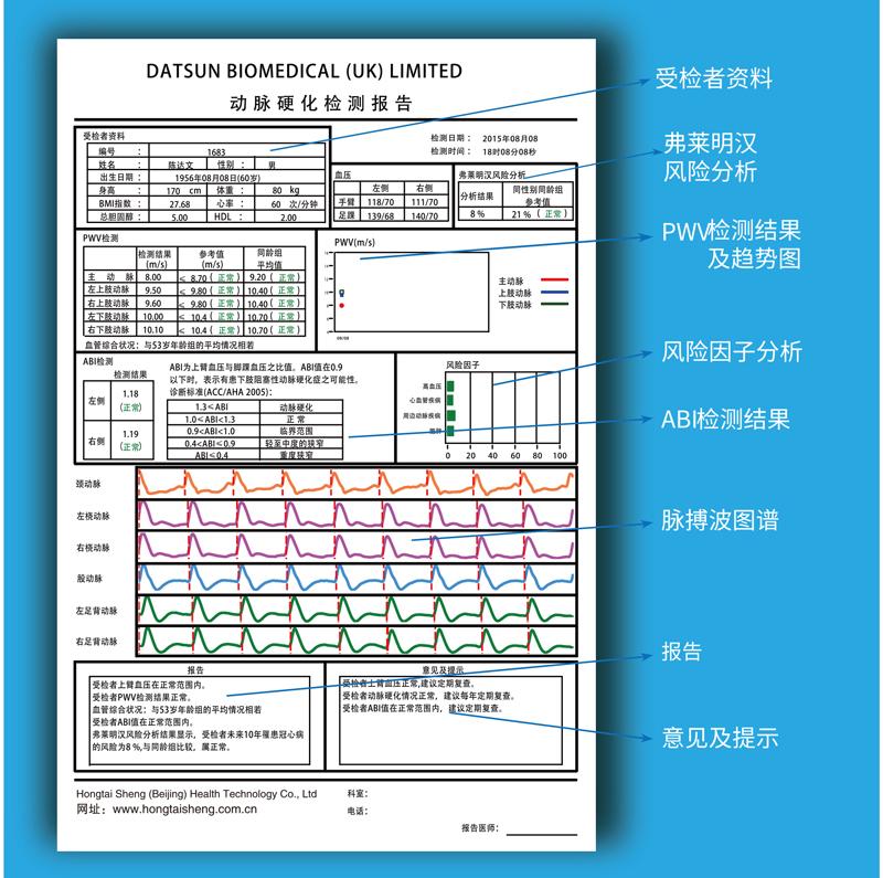 动脉硬化报告